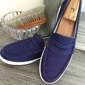 Cole Haan navy blue loafers 9.5D